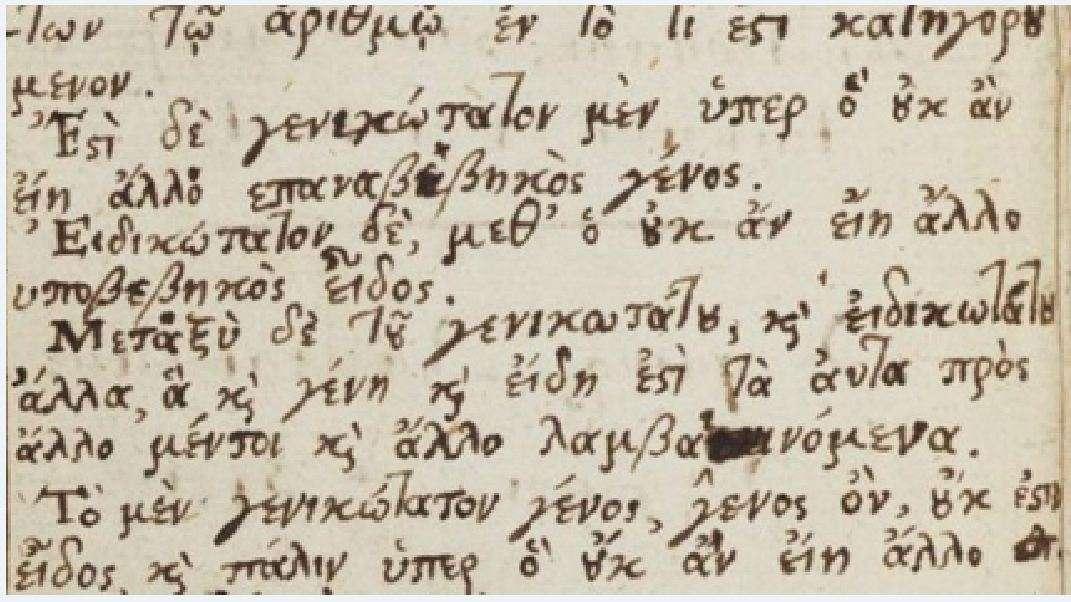 Σημειώσεις του Νεύτωνα στα αρχαία ελληνικά.