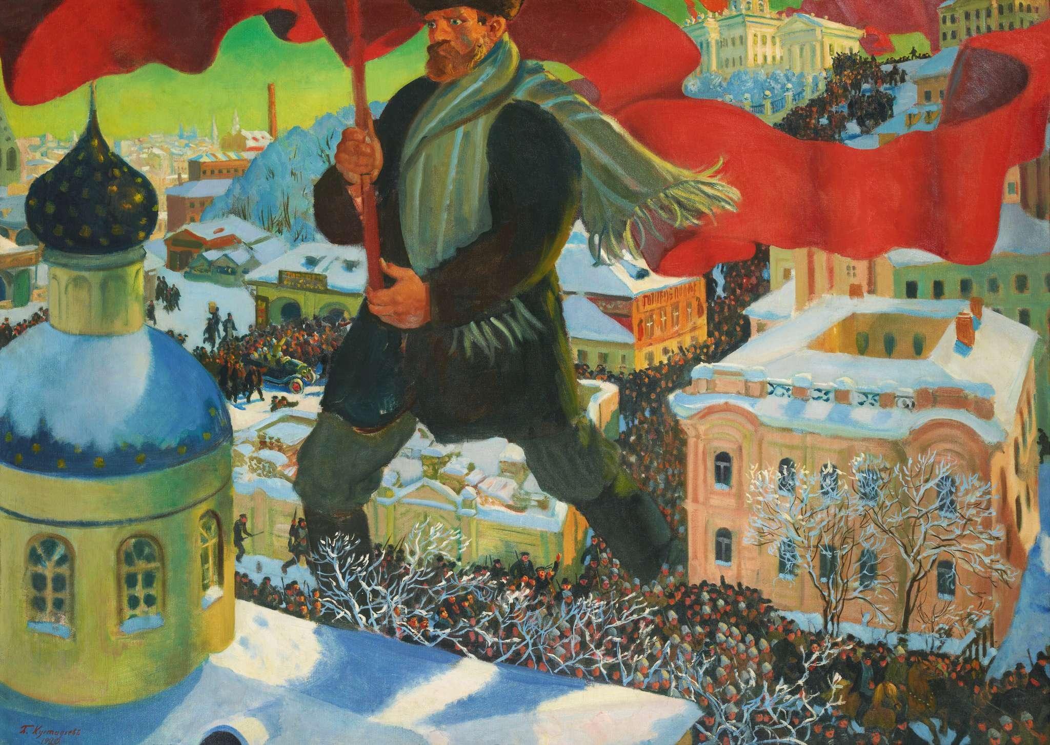 Έργο του 1920 του Mπορίς Κουστόντιεφ (Борис Кустодиев) «O Μπολσεβίκος»