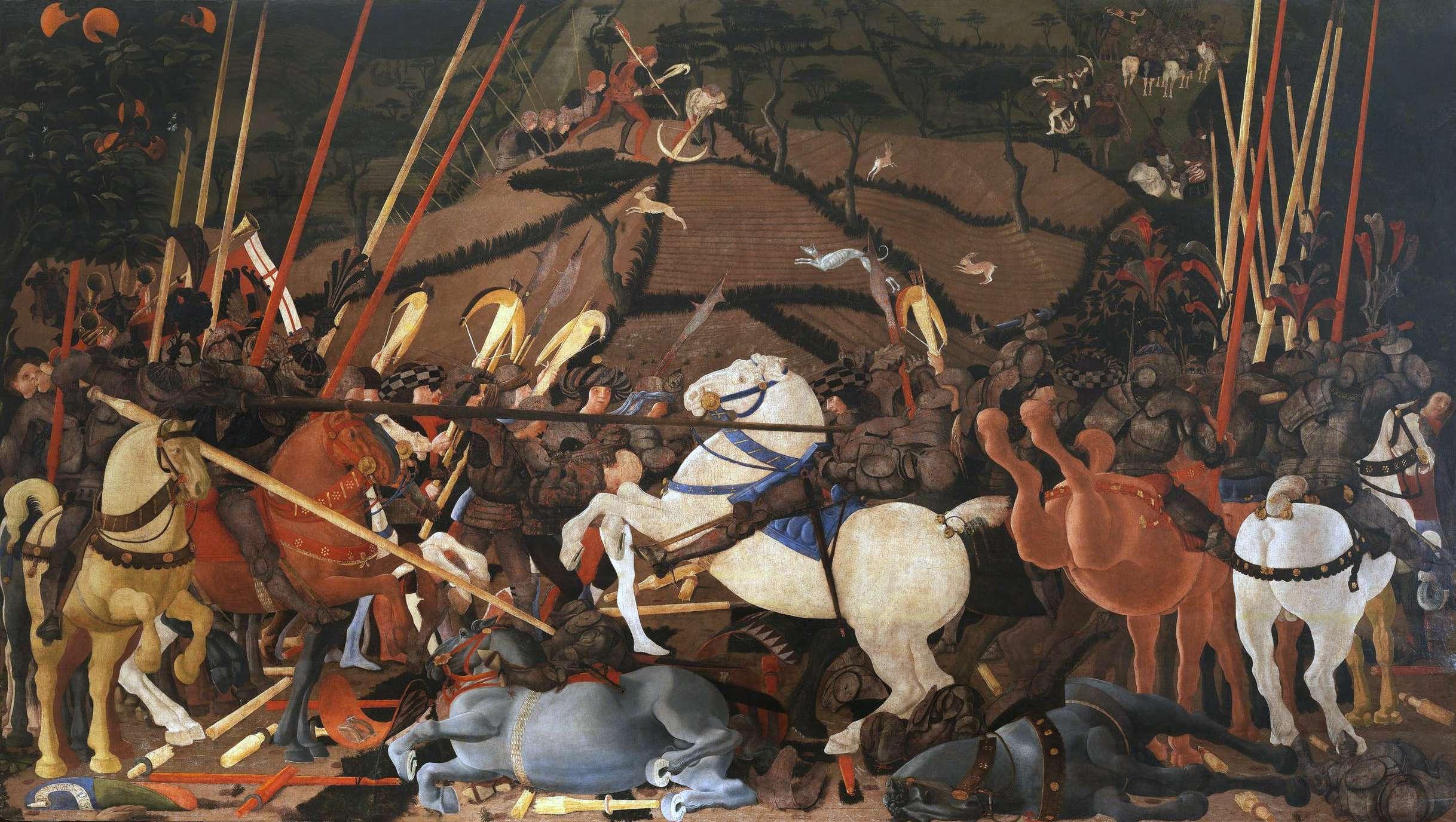 Πάολο Ουτσέλλο (Paolo Uccello, 15 Ιουνίου 1397 - 10 Δεκεμβρίου 1475). Μάχη του Σαν Ρομάνο.