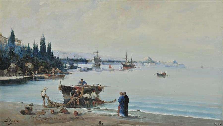 Βασίλειος Χατζής (1870 Καστοριά - 1915 Αθήνα). Πρωινό στην Κέρκυρα.