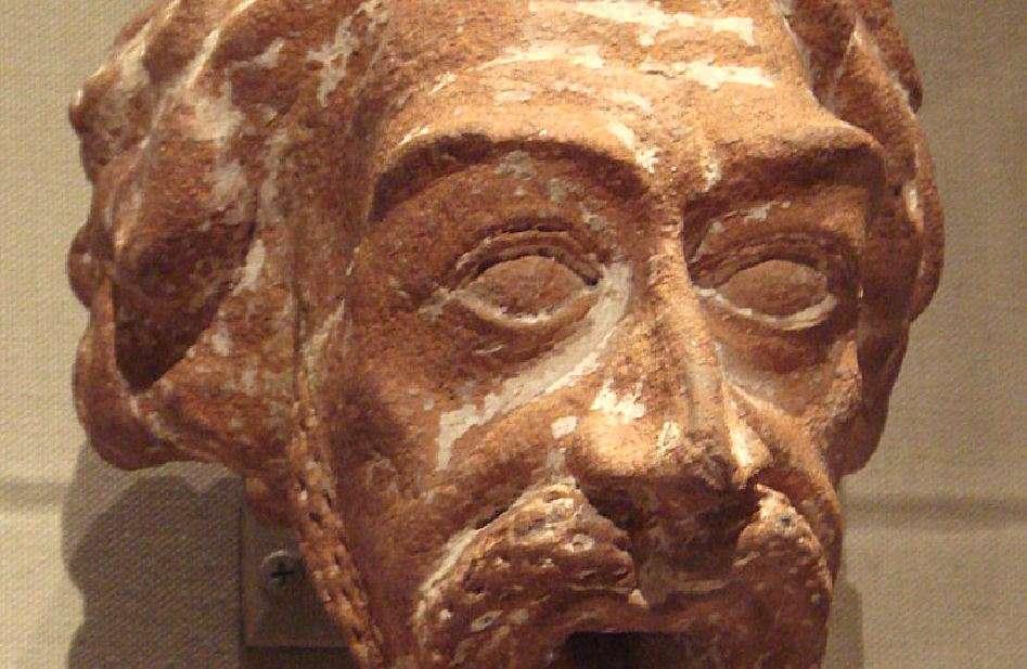 Κεραμική των Πάρθων – κεφαλή ανδρός (1ος – 2ος αιώνας μ.Χ.)