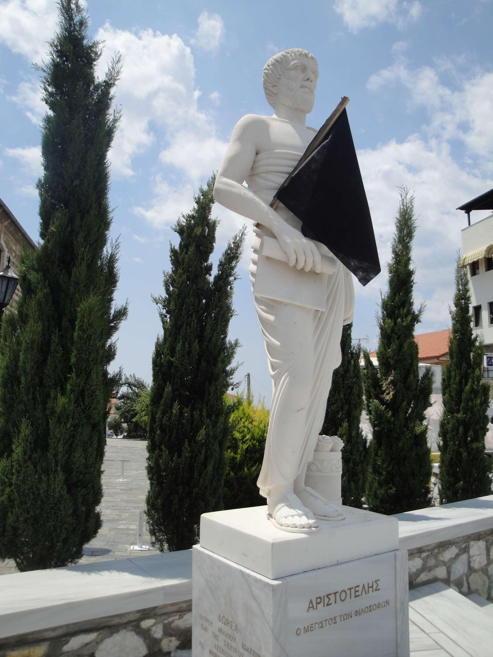 Ο Αριστοτέλης με μαύρη σημαία.
