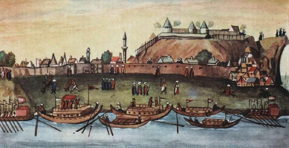 Βελιγράδι. Γενίτσαροι παλεύουν με αρκούδες. (1600)