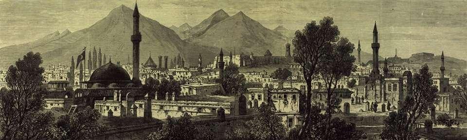 Το Ερζερούμ, ιστορικά γνωστό ως Θεοδοσιούπολη (19ος αιώνας).
