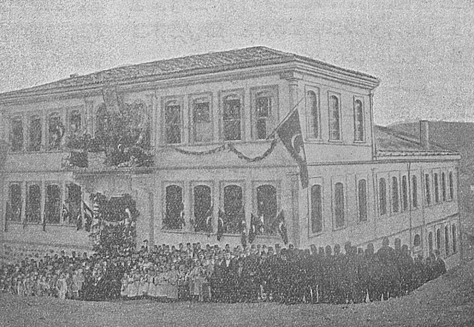 Εγκαίνια ελληνικού σχολείου στην Κασταμονή. 1899