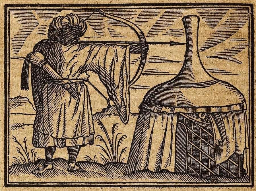 Οθωμανός τοξότης δίπλα στη σκηνή του. (1600)