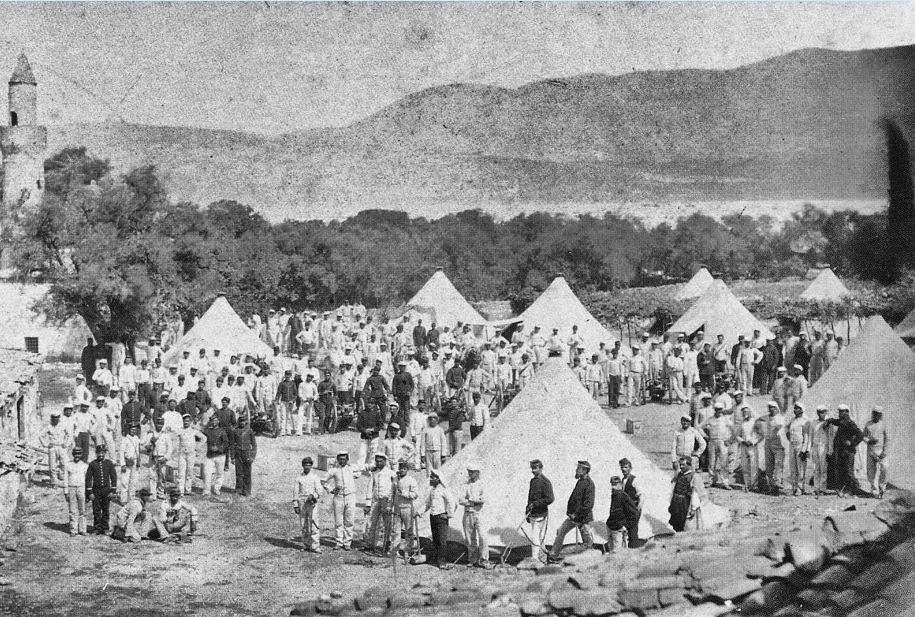Ελληνικό στρατόπεδο κατά τον πόλεμο του 1897.