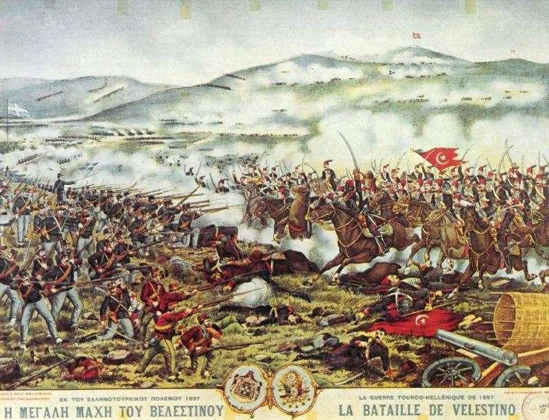 Αναπαράσταση της μάχης στο Βελεστίνο.