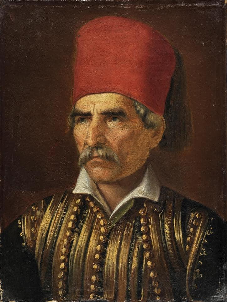 Θεόδωρος Βρυζάκης. Προσωπογραφία του Θεόδωρου Κολοκοτρώνη.