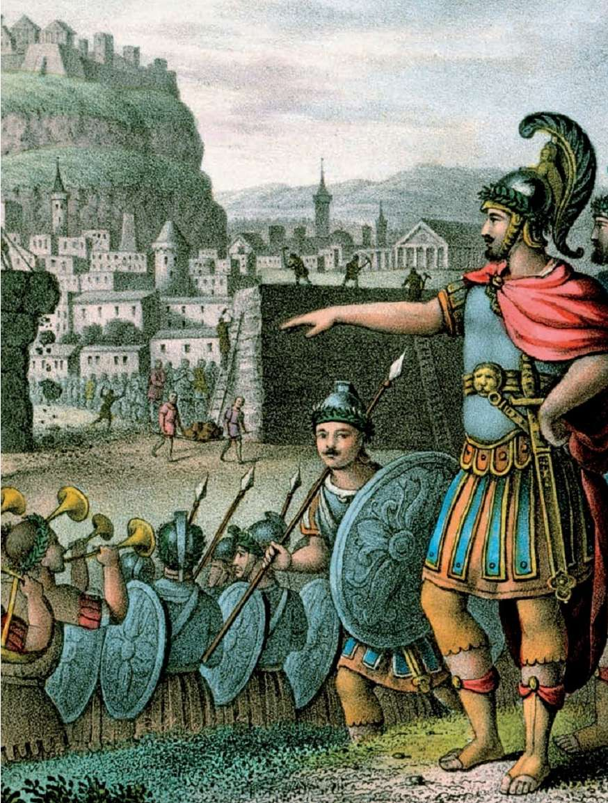 Λύσανδρος έξω από τα τείχη της Αθήνας. Λιθογραφία του 19ου αιώνα.