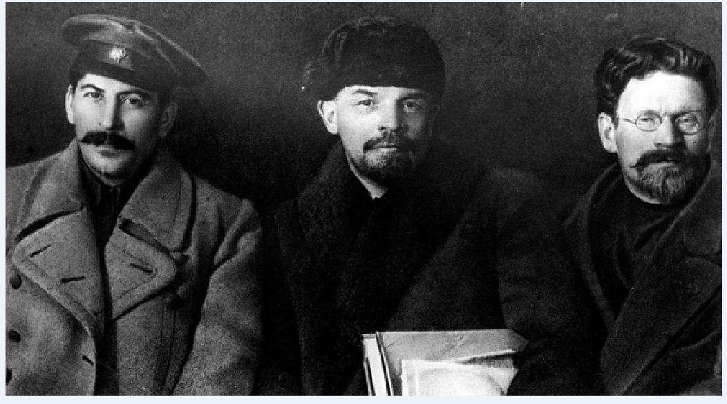 Στάλιν, Λένιν, Τρότσκι