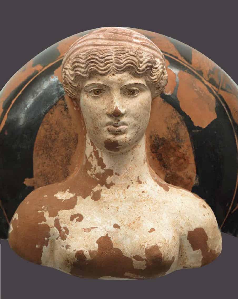 Επίνητρο του «ζωγράφου της Ερέτριας»: Γάμος του Αδμήτου και της Άλκηστης (λεπτομέρεια), 425-420 π.Χ. Αθήνα, Εθνικό Αρχαιολογικό Μουσείο.