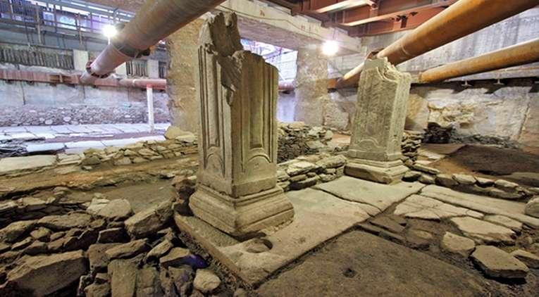 Αρχαιότητες στο Μετρό της Θεσσαλονίκης. Σταθμός Βενιζέλου.