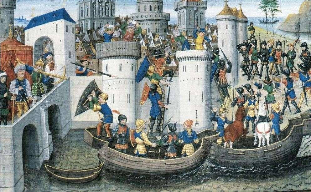 Η πολιορκία της Πόλης από τους Σταυροφόρους στα 1204.