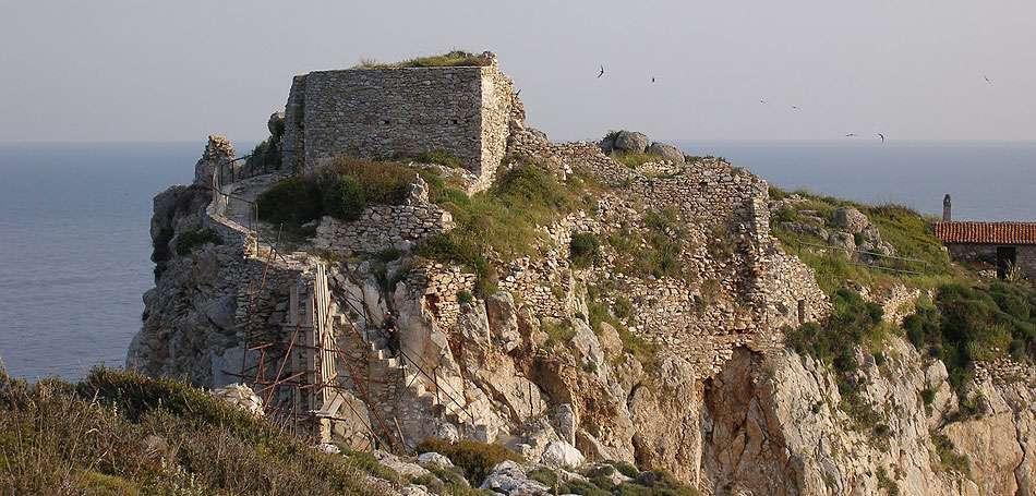 Το παλιό κάστρο της Σκιάθου σήμερα.