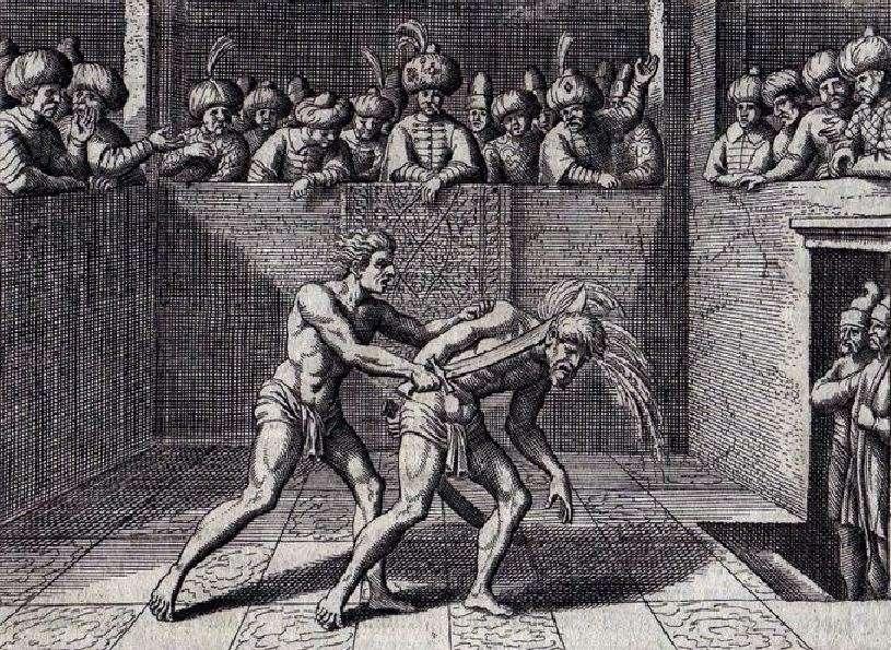 Ο Γεώργιος Καστριώτης αποκεφαλίζει Τάταρο σε μονομαχία.