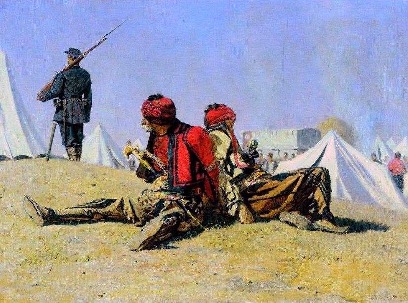 Ρωσοτουρκικός πόλεμος του 1877-1878. Βασιβουζούκοι πιασμένοι αιχμάλωτοι από το Βουλγαρικό και το Ρωσικό στρατό.