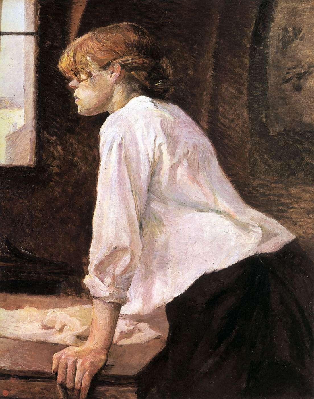 Ανρί ντε Τουλούζ-Λωτρέκ (Henri Marie Raymond de Toulouse-Lautrec-Monfa, 24 Νοεμβρίου 1864 - 9 Σεπτεμβρίου 1901). Η πλύστρα.