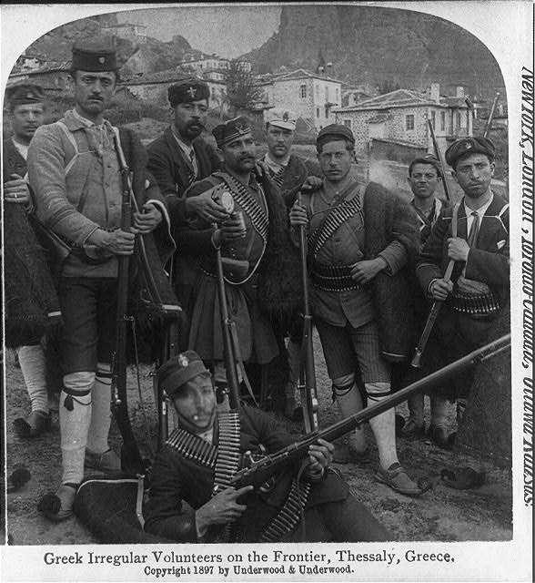 Έλληνες άτακτοι στη Θεσσαλία κατά τον ελληνοτουρκικό πόλεμο του 1897.