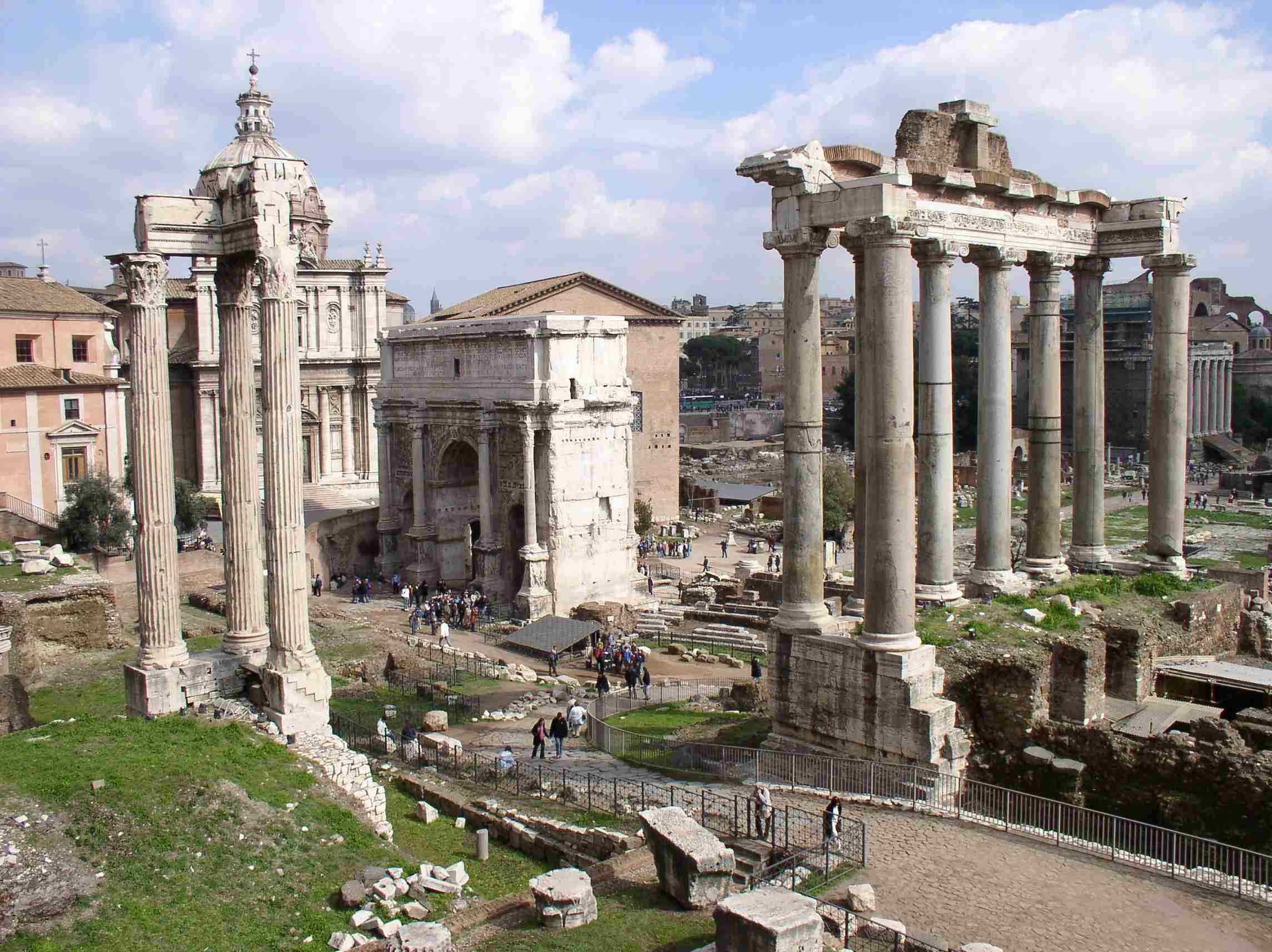 Η αγορά της αρχαίας Ρώμης.
