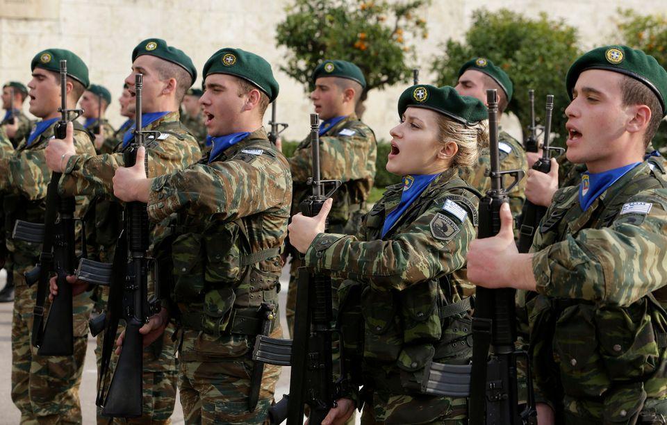 Έλληνες στρατιώτες. ASSOCIATED PRESS.