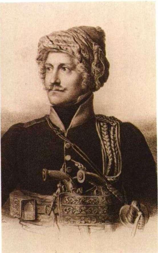 Ο συνταγματάρχης Thomas Gordon, φανατικός φιλελεύθερος, κατέβηκε στην Ελλάδα το 1821 με μερικούς αξιωματικούς και πολεμοφόδια.