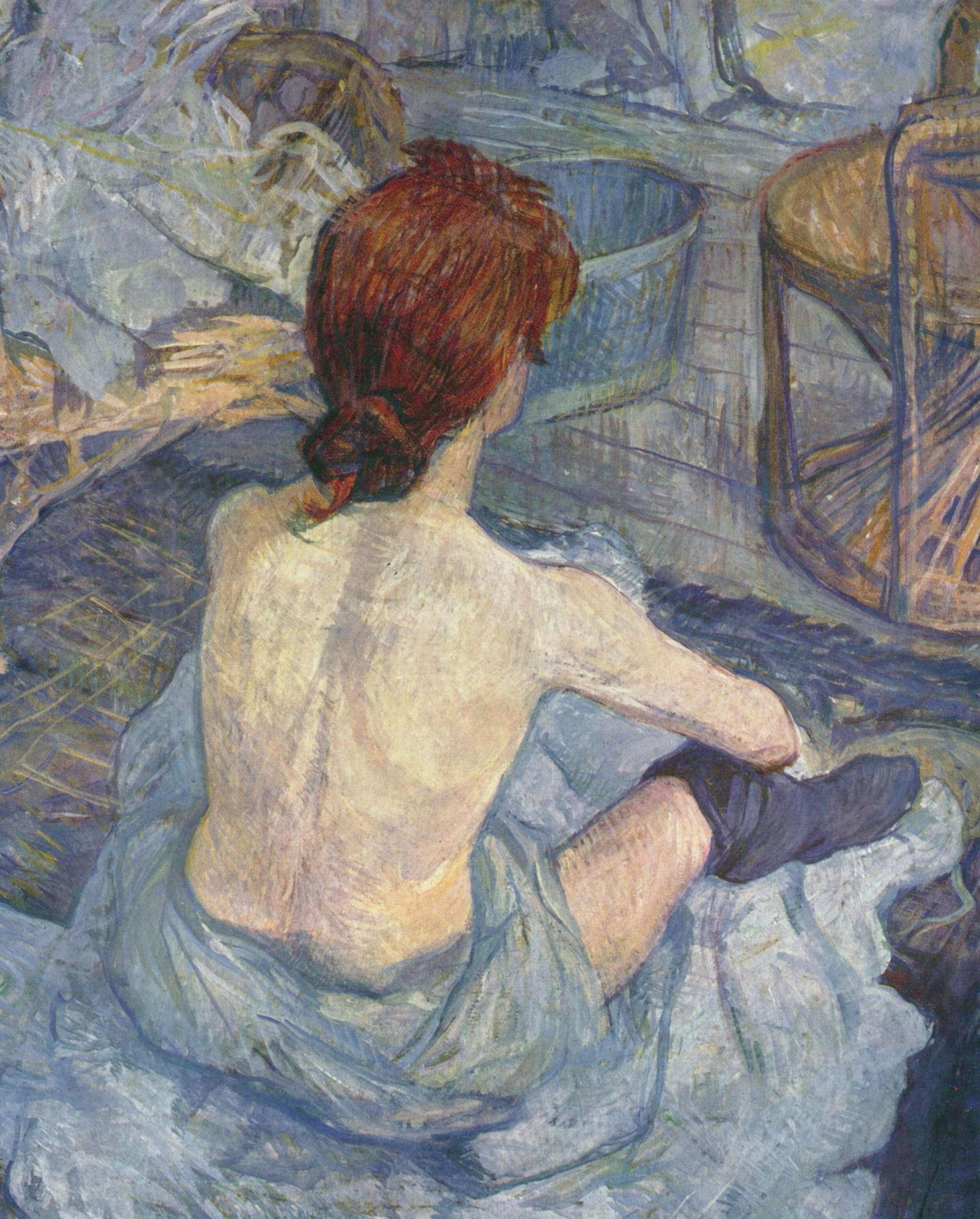 Ανρί ντε Τουλούζ-Λωτρέκ (Henri Marie Raymond de Toulouse-Lautrec-Monfa, 24 Νοεμβρίου 1864 - 9 Σεπτεμβρίου 1901). Η τουαλέτα, 1889, Παρίσι, Μουσείο Ορσέ.