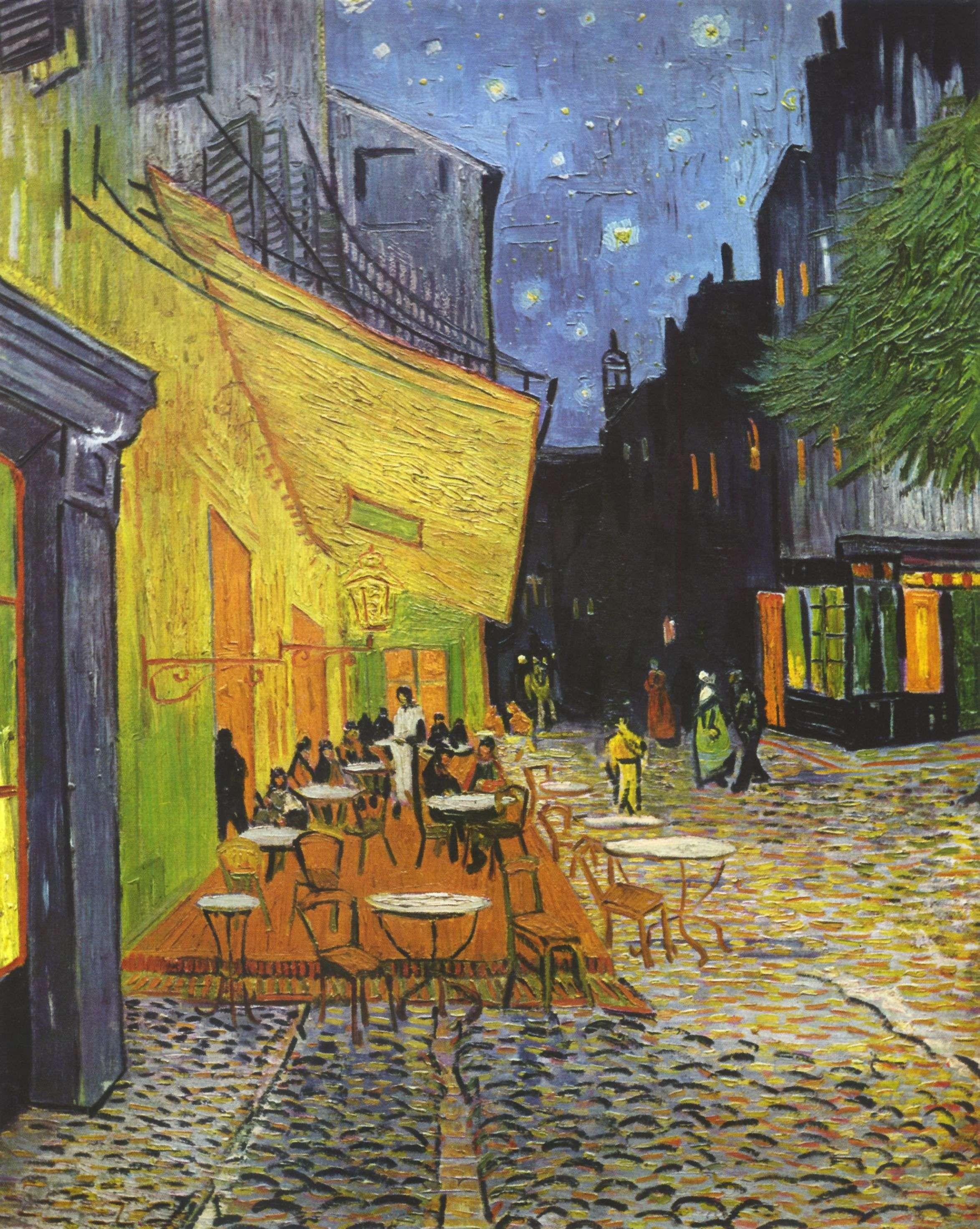 Βίνσεντ βαν Γκογκ (Vincent Willem van Gogh). Εξώστης καφενείου τη νύχτα, 1888, Otterlo (Ολλανδία), Kröller-Müller Museum.