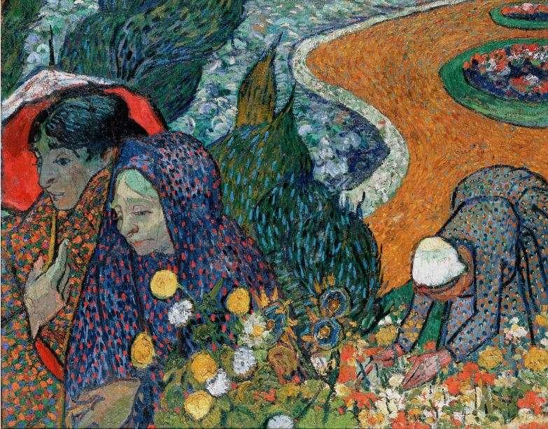 Βίνσεντ βαν Γκογκ (Vincent Willem van Gogh). Ανάμνηση από τον κήπο στο Etten (Κυρίες της Αρλ) , 1888, Αγία Πετρούπολη, Ερμιτάζ.