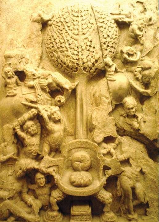 Ανάγλυφο στα ερείπια της πόλης Αμαραβά- τι στο Άντρα-Πραντές της Ινδίας