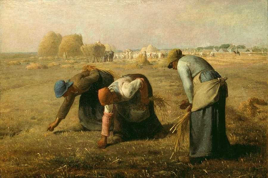 Ζαν Φρανσουά Μιγέ (Jean-François Millet, 4 Οκτωβρίου 1814 - 20 Ιανουαρίου 1875). Οι σταχομαζώχτρες (1857), Μουσείο Ορσέ, Παρίσι.
