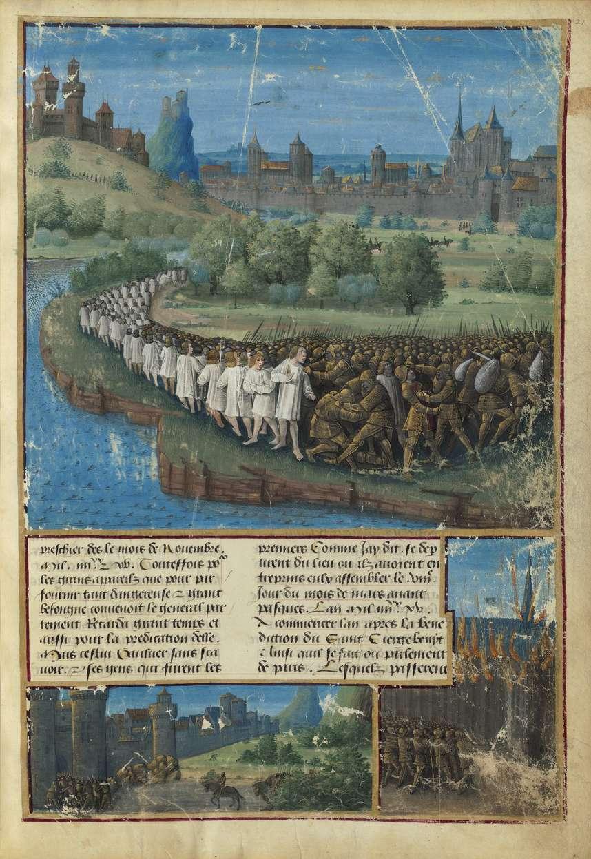 Σφαγή της Σταυροφορίας του λαού (Μινιατούρα του 1490).