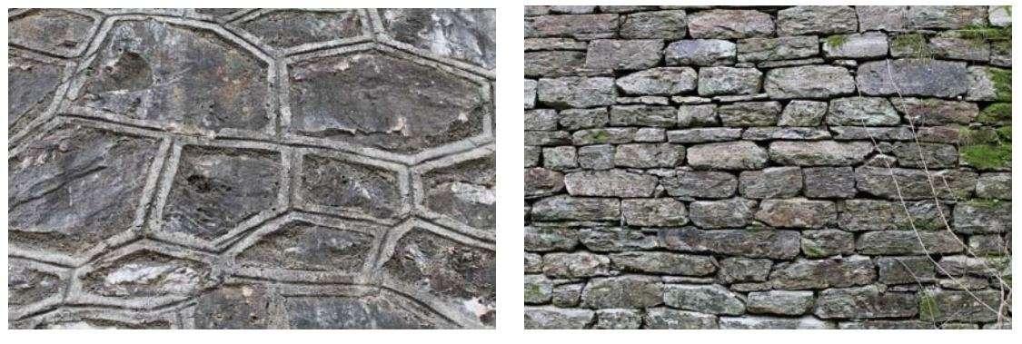 Λεπτομέρειες ξηρολίθινου και λιθόδμητου τοιχίου φράγματος ανάσχεσης (αρχείο: Β. Κατσάρας).