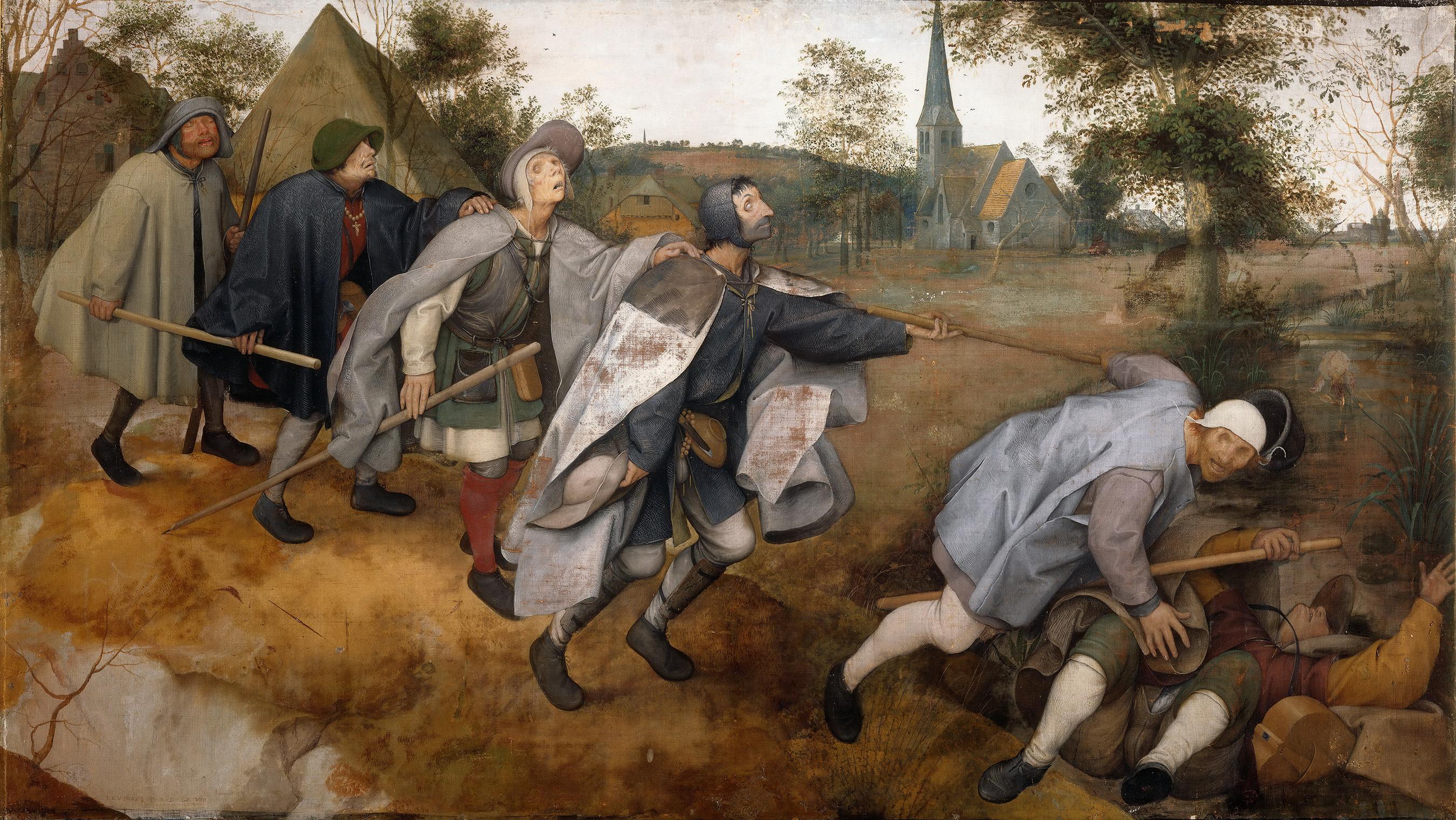 Πίτερ Μπρίγκελ ο πρεσβύτερος. The Blind Leading the Blind (1568)
