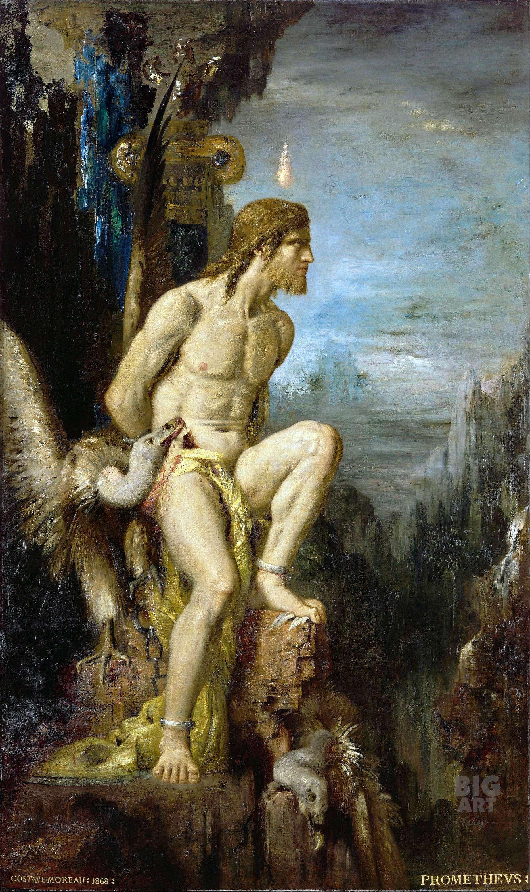 """Ο τραγικός μύθος του Προμηθέα προβάλλει, στην Αθήνα του 5ου αιώνα, έναν παράξενο μεσσιανισμό: """"ένας θεός πιο δυνατός από τον Δία θα γεννηθεί μια μέρα και θα συντρίψει την εξουσία του""""."""