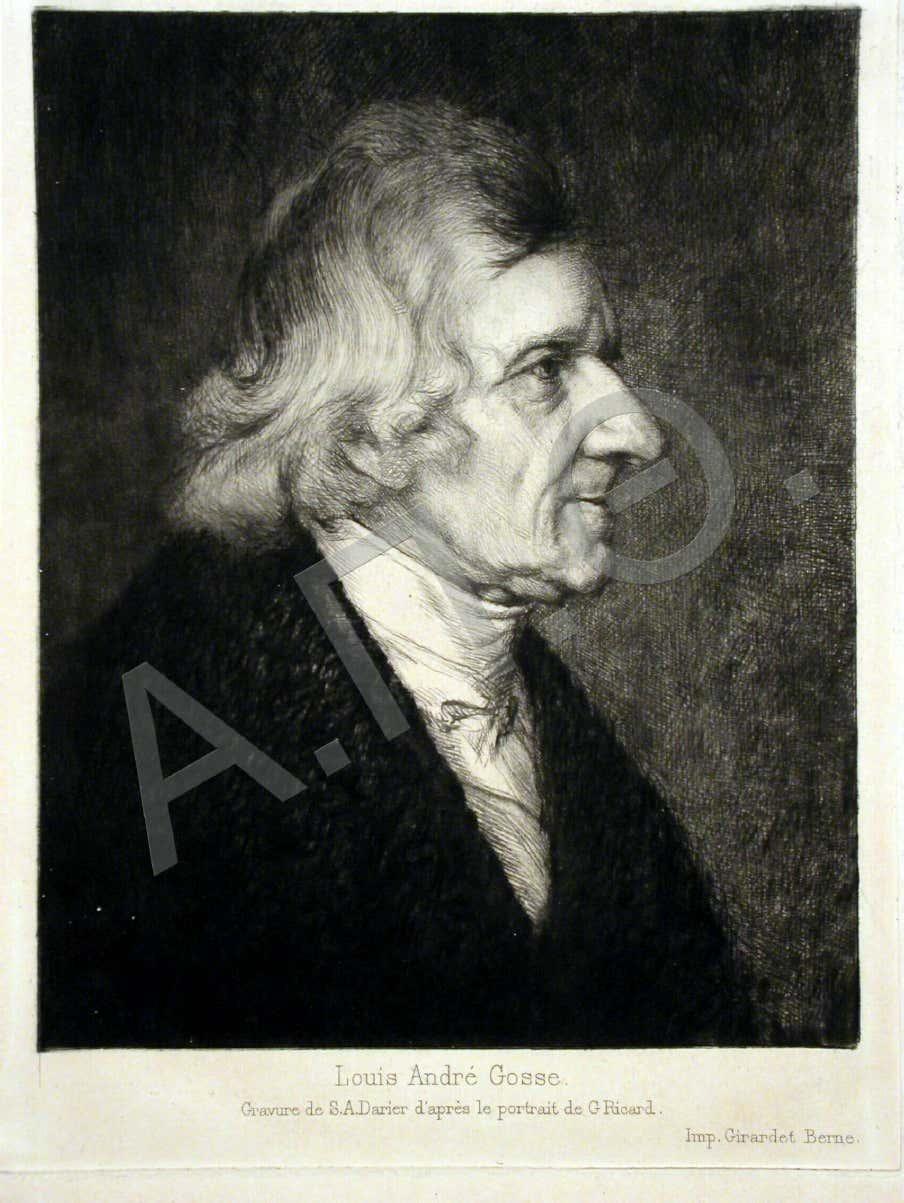 O Louis-André Gosse γεννήθηκε στην Γενεύη Ελβετίας το 1791 από πατέρα φαρμακοποιό. Χάρις την οικονομική στήριξη του πατέρα του σπούδασε Ιατρική στο Παρίσι, όπου αναγορεύθηκε και διδάκτωρ της ιατρικής σχολής. Gosse, Louis-Andre,, 1791-1873. Gravure de S. A. Darier d' artes le portrait de G. Ricard.