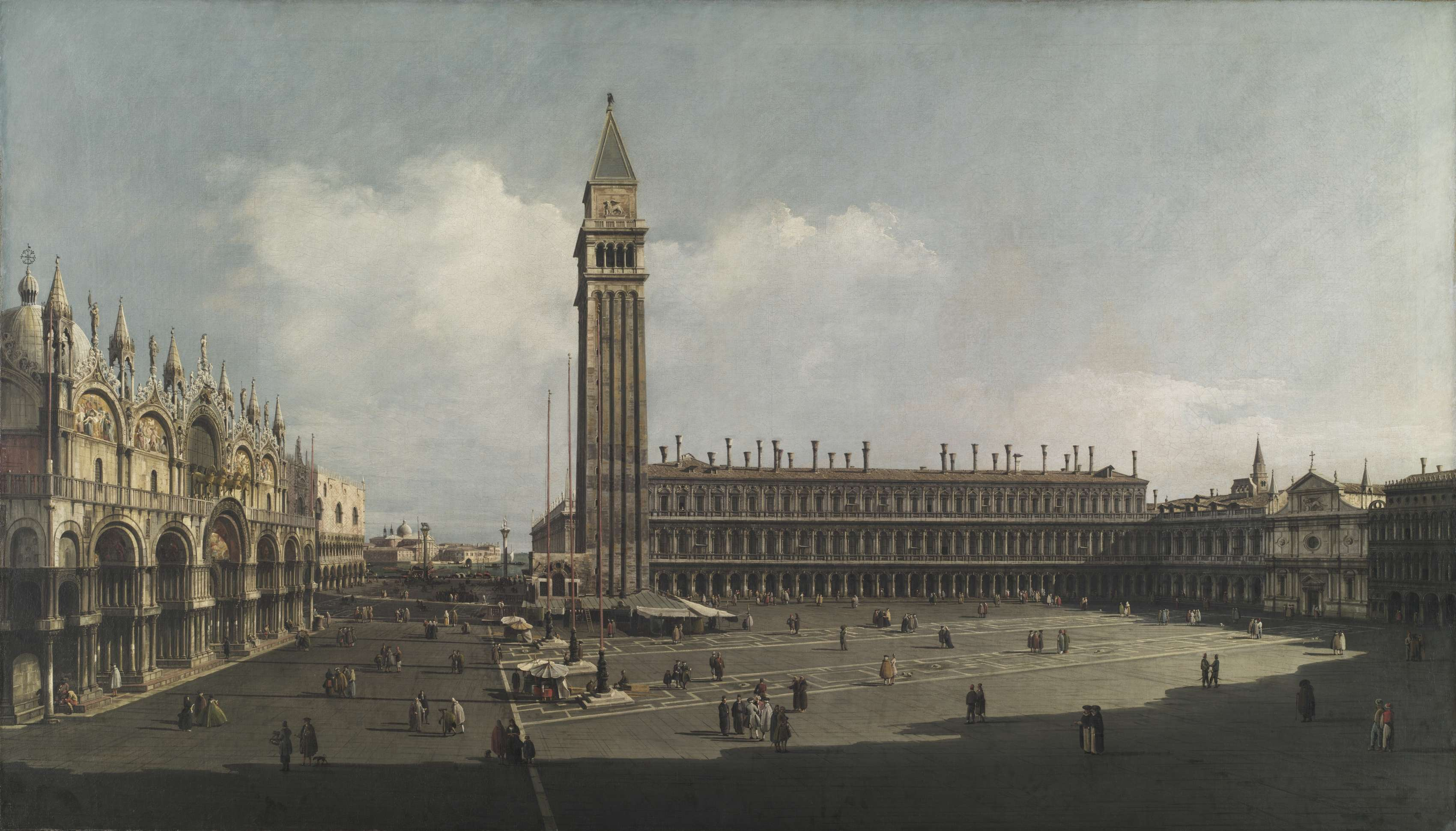 Η πλατεία του Αγίου Μάρκου. 18ος αιώνας. Piazza San Marco, Venice. c. 1740.Bernardo Bellotto (Italian, 1721-1780).