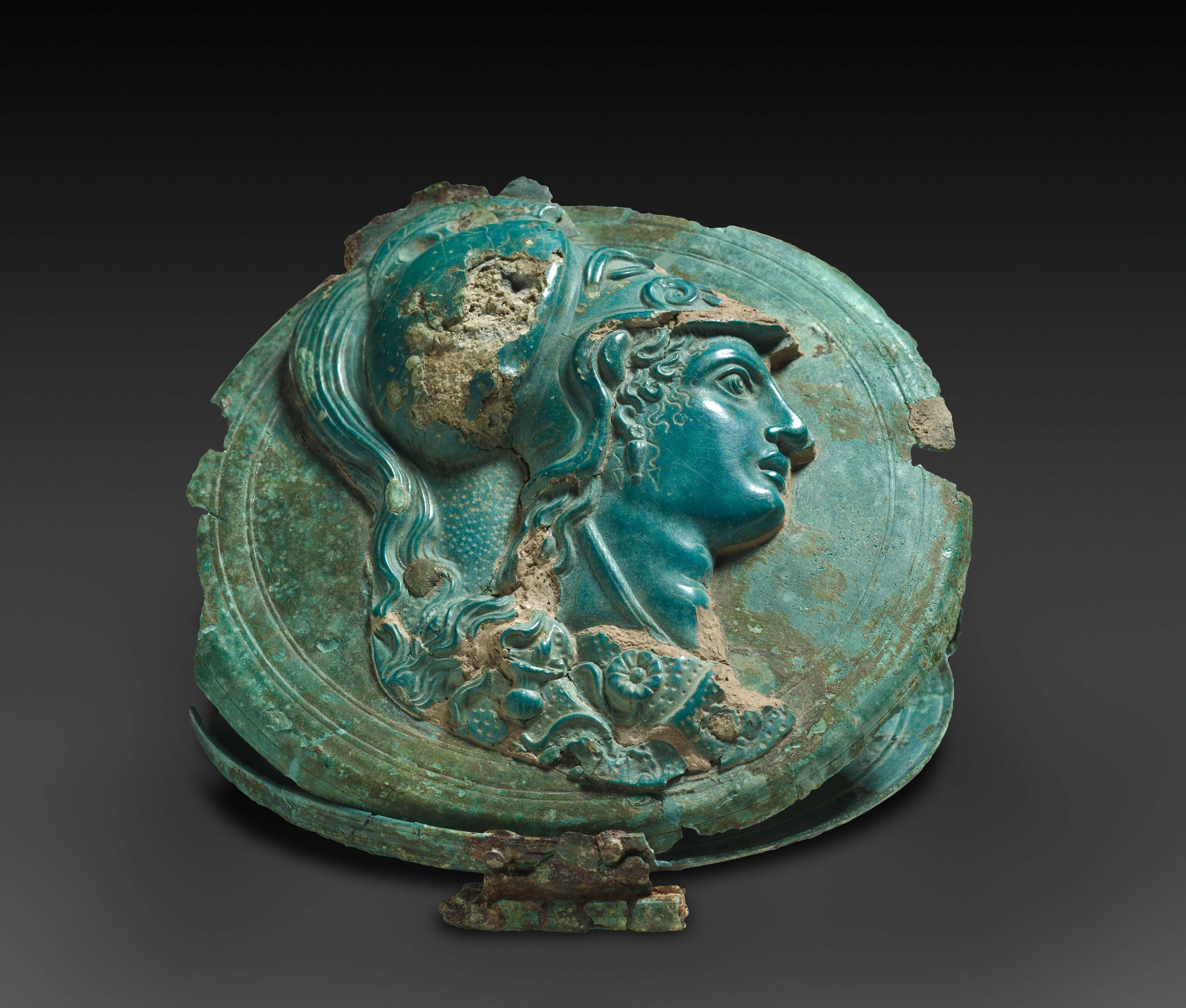 Η θεά Αθηνά. Mirror Box with Head of Athena 400-375 BC. Μουσείο Τέχνης του Κλίβελαντ.