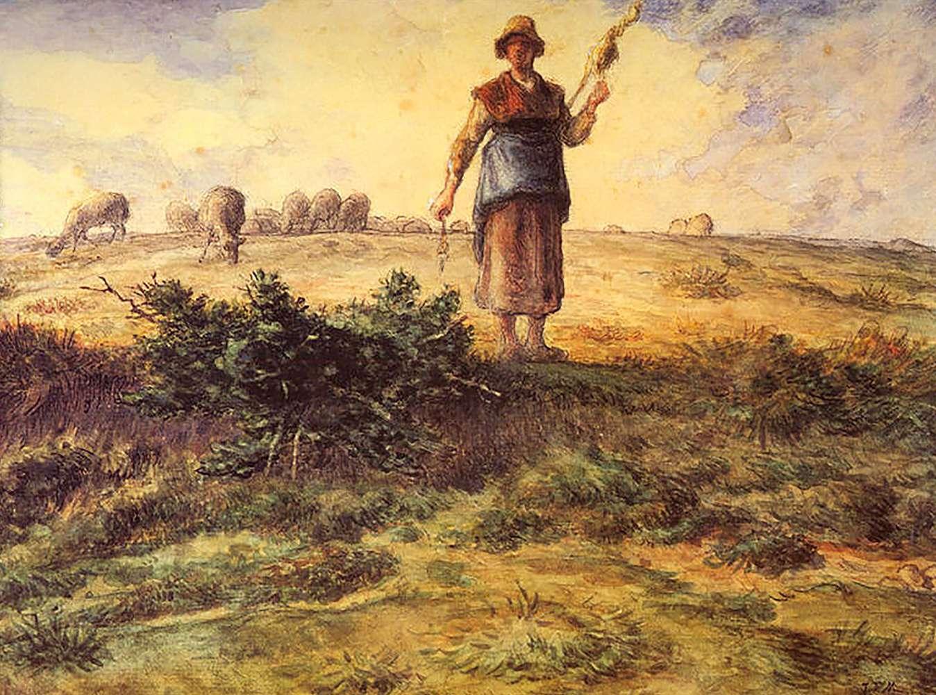 Αγροτική ζωή. Ζαν Φρανσουά Μιγέ (Jean-François Millet, 4 Οκτωβρίου 1814 - 20 Ιανουαρίου 1875).