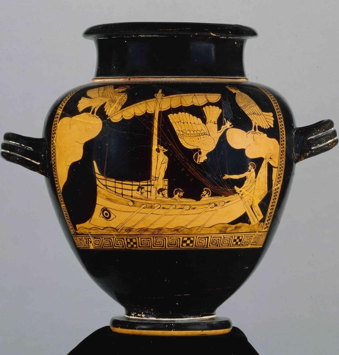 Σκηνή από την Οδύσσεια. Βρετανικό Μουσείο.