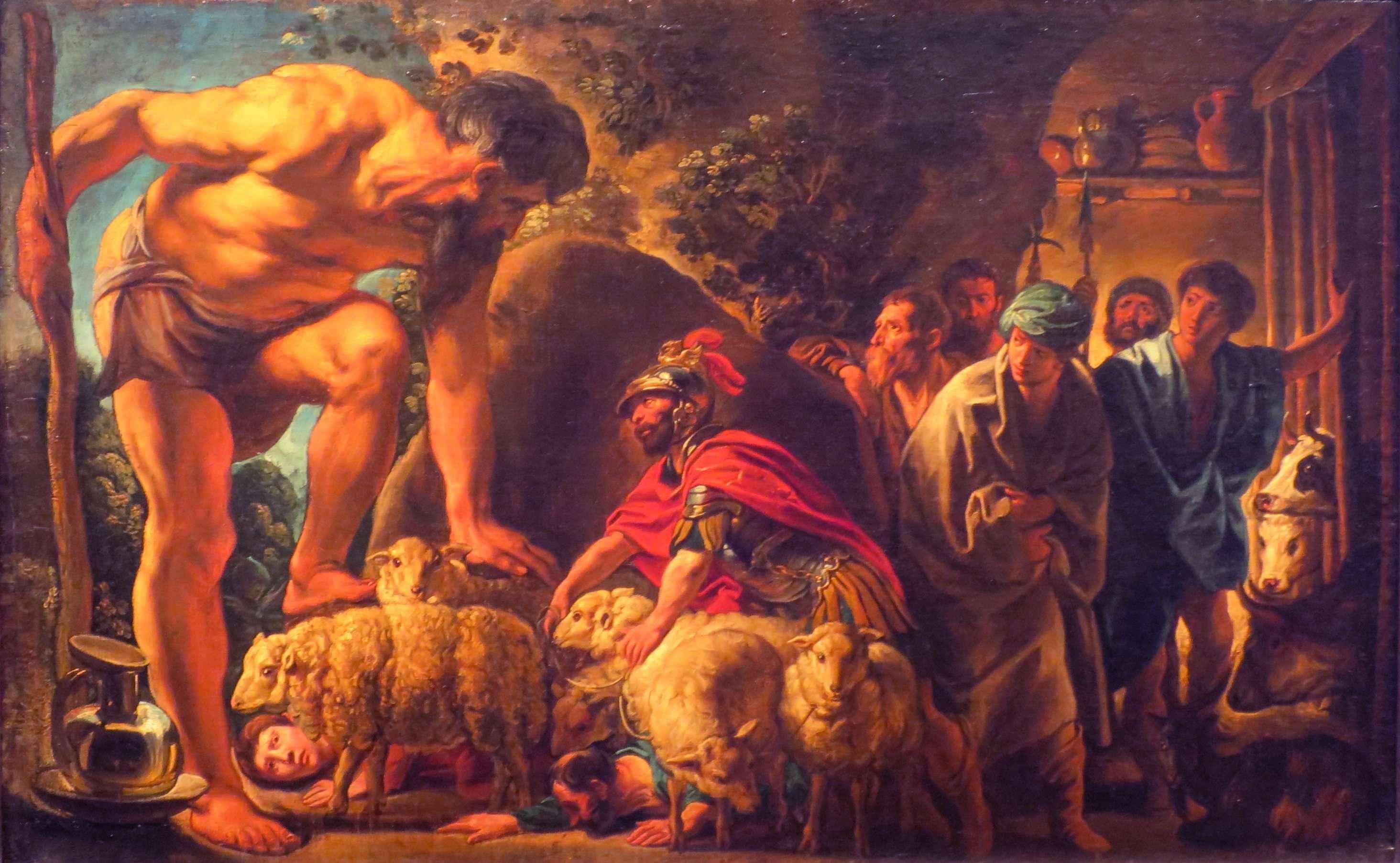 Ο Γιάκομπ Γιόρντενς (φλαμανδικά: Jacob Jordaens, 19 Μαΐου 1593 – 18 Οκτωβρίου 1678) ήταν Φλαμανδός ζωγράφος, χαράκτης και σχεδιαστής ταπισερί, γνωστός για τους πίνακες με ιστορικά θέματα, θέματα καθημερινότητας και τις προσωπογραφίες του. Ο Οδυσσέας στη σπηλιά του Πολύφημου, λάδι σε μουσαμά, 76 × 96 εκ., Μουσείο Πούσκιν