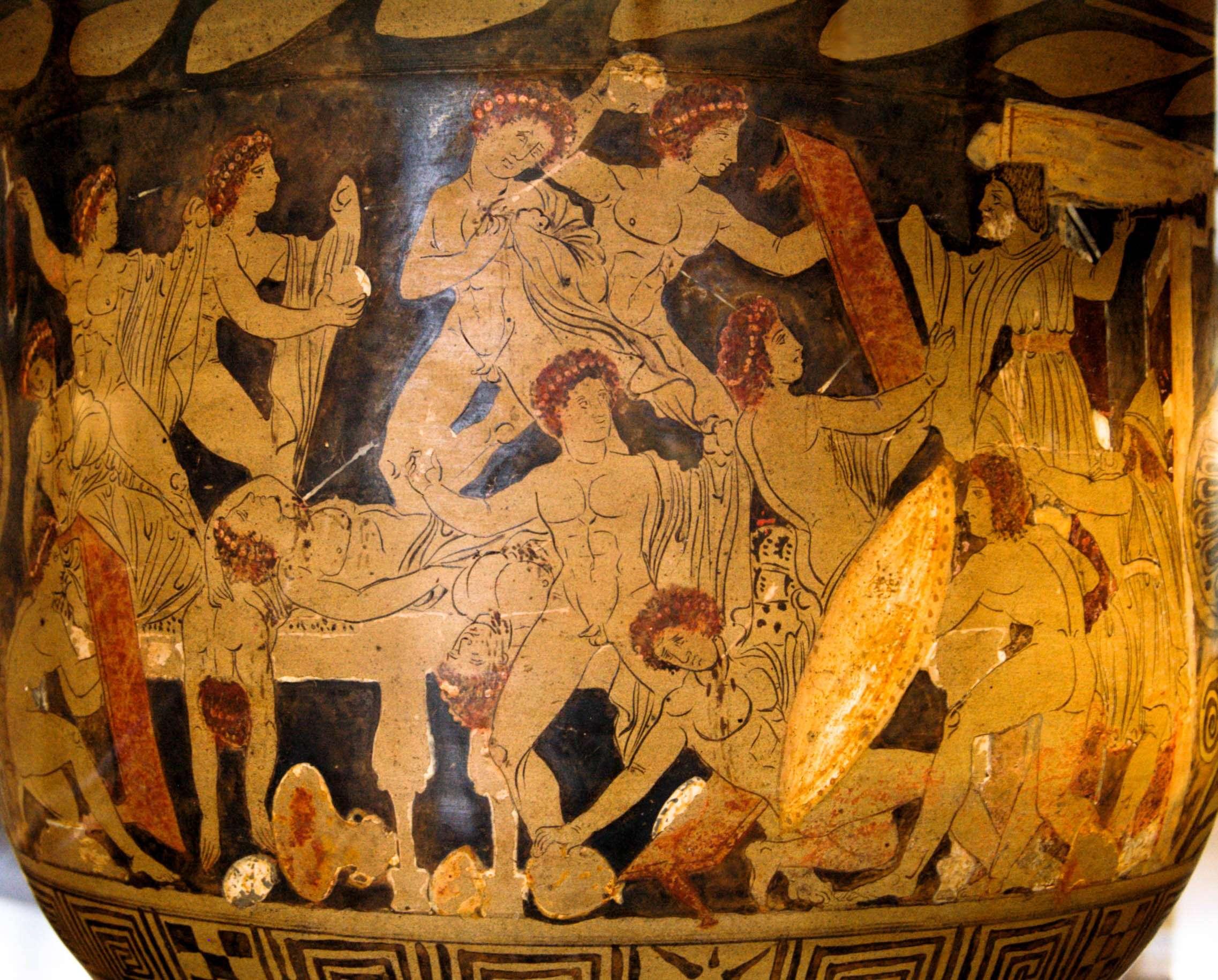 Η σφαγή των μνηστήρων από τον Οδυσσέα και τον Τηλέμαχο, το 330 π.Χ., Λούβρο