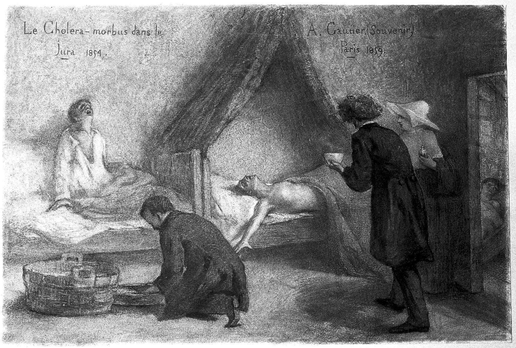 Χολέρα. Patients suffering from cholera in the Jura during the 1854.
