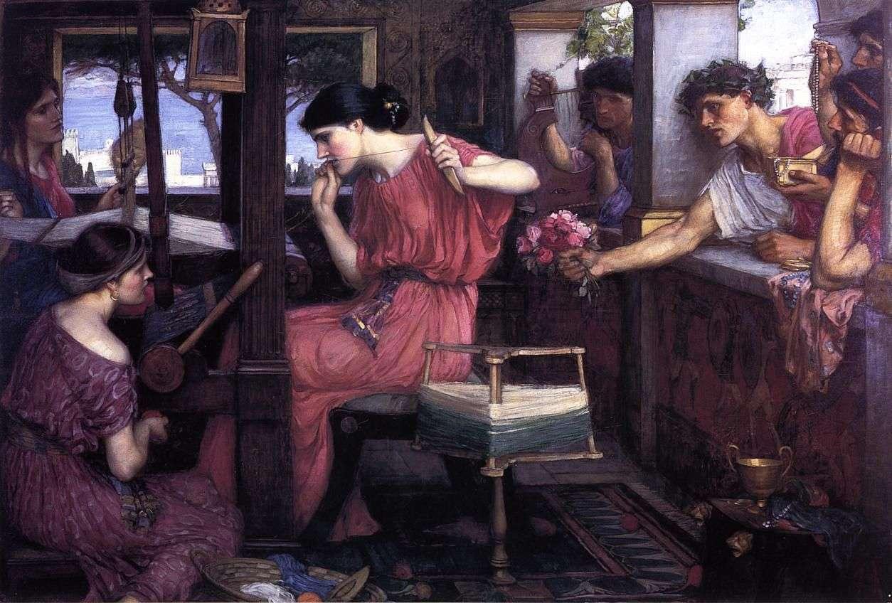 Η Πηνελόπη και οι μνηστήρες από τον John William Waterhouse (1912)