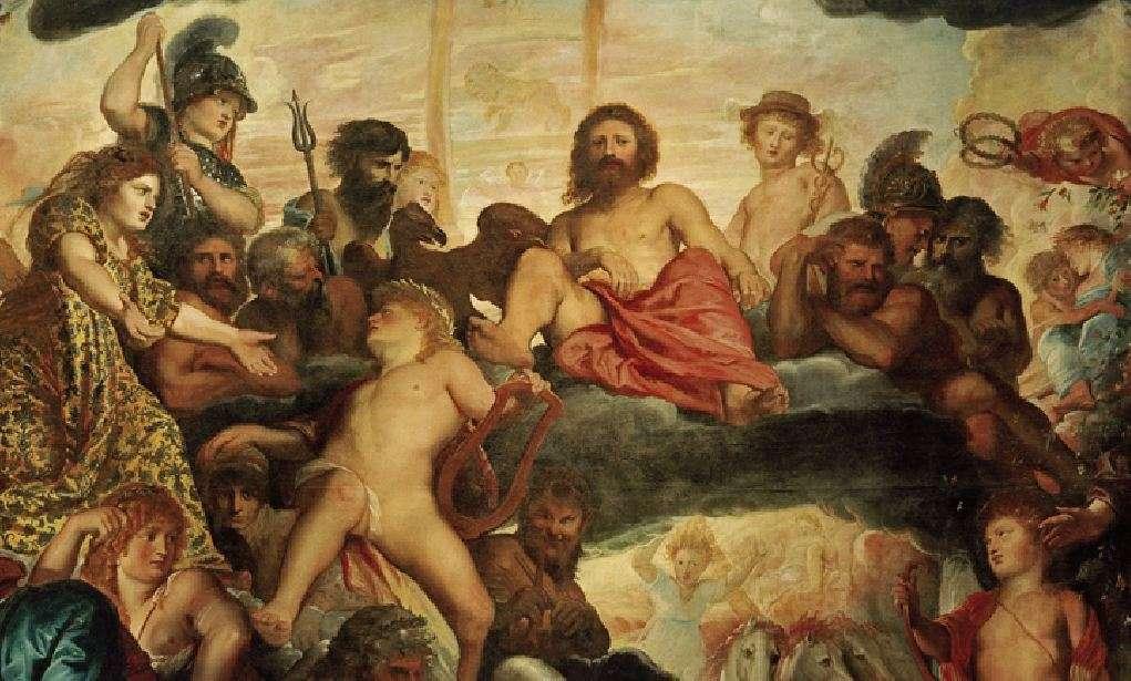 Το συμβούλιο των θεών στον Όλυμπο. Ομήρου Οδύσσεια. Peter Paul Rubens, Concilio degli dei, 1602, olio su tela. Praga, Collezione d'Arte del Castello di Praga.