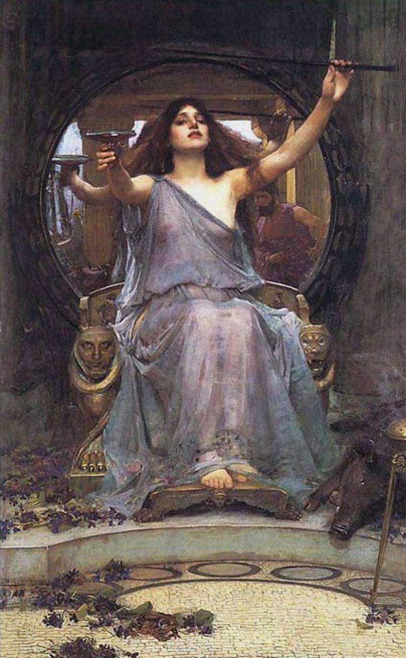 Η Κίρκη προσφέρει το ποτήρι στον Οδυσσέα (1891) του Τζον Γουίλιαμ Γουότερχαουζ.