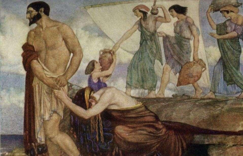 Ομήρου Οδύσσεια. Οδυσσέας και Καλυψώ. Ulisse e Calipso, William Russell Flint.