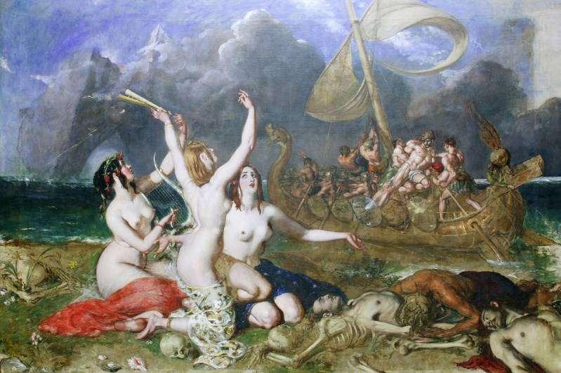 Οι Σειρήνες ήταν γυναικείες θεότητες που σχετίζονταν με το νερό, τον έρωτα και τον θάνατο.