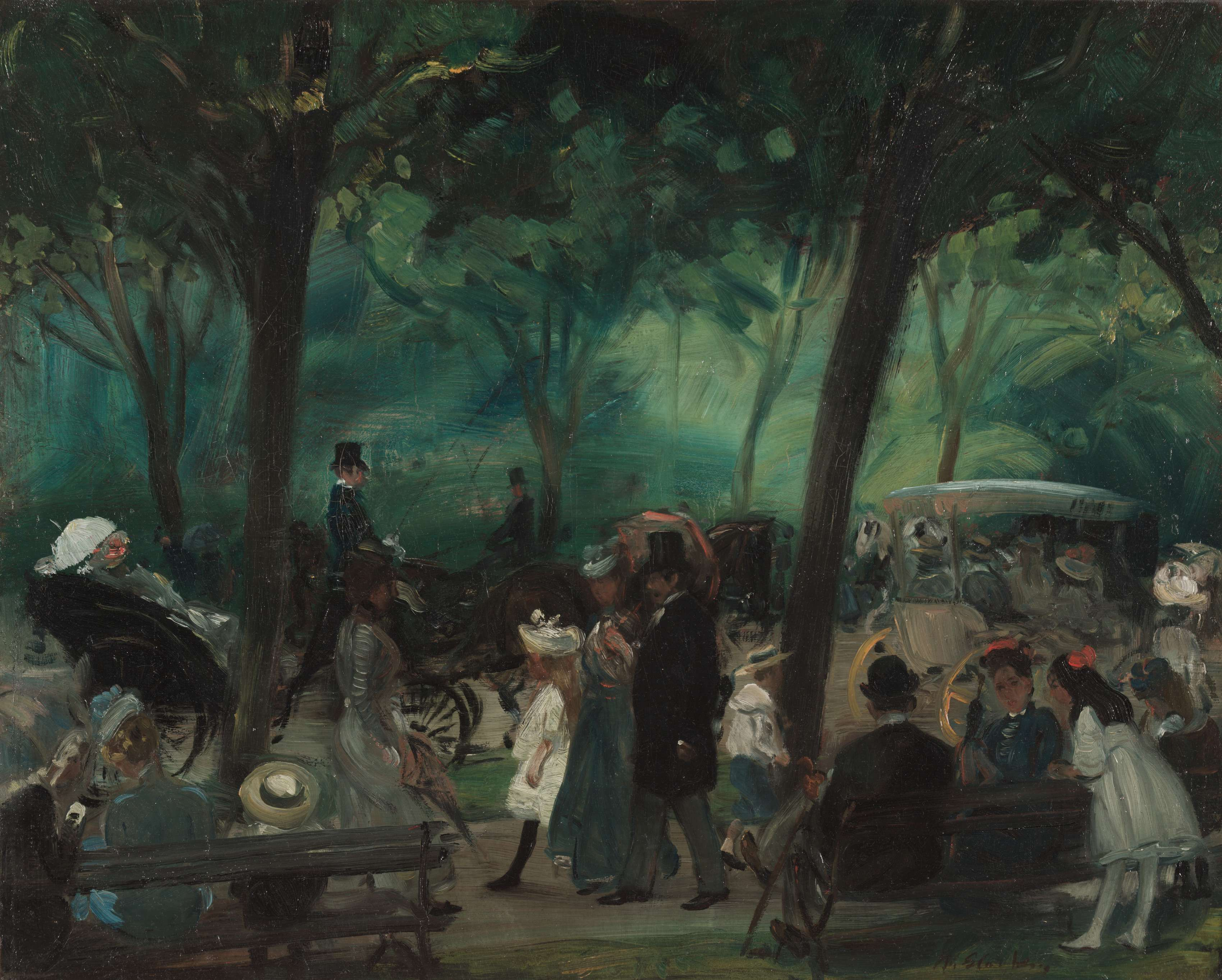 The Drive, Central Park c. 1905. William Glackens. (American, 1870-1938). Μουσείο Τέχνης του Κλίβελαντ.