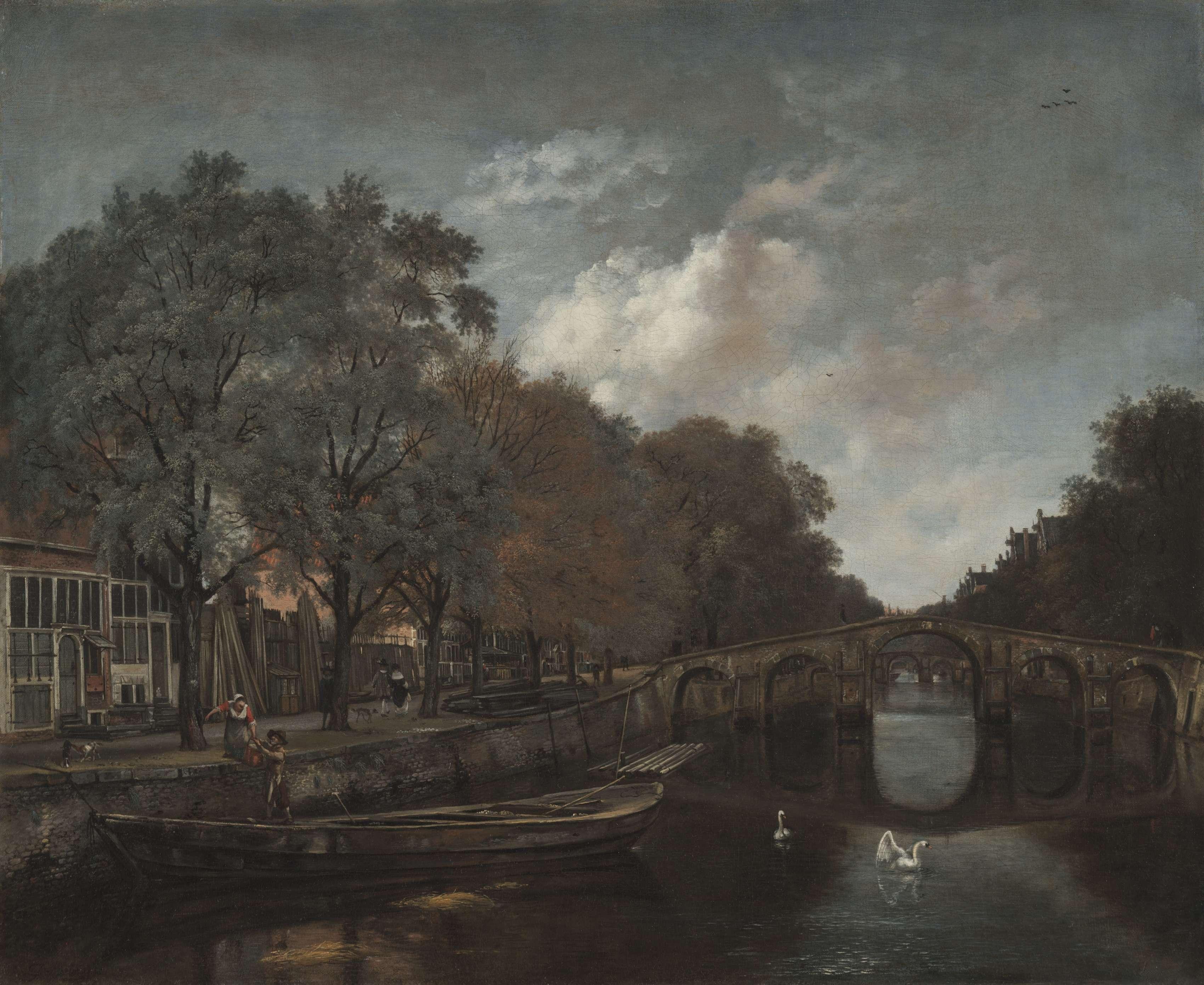Άμστερνταμ. Herengracht, Amsterdam. c. 1661. Jan Wijnants. (Dutch, 1635-1684). Μουσείο Τέχνης του Κλίβελαντ.